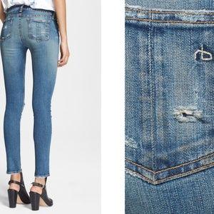 RAG & BONE Destructed Skinny Jeans in Brunswick 28